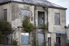 De verlaten bouw in Carmarthen, Carmarthenshire, Verenigd Wales, Royalty-vrije Stock Foto's