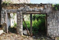 De verlaten Bouw in Jajce Royalty-vrije Stock Afbeelding