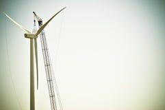 De Verlaten Bouw van de turbine - Stock Foto