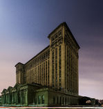 De verlaten Centrale Post van Michigan in Detroit royalty-vrije stock foto's