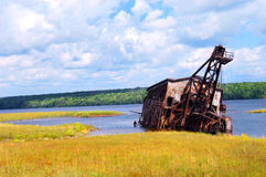 De Baggermachine van de zuiging in Michigan royalty-vrije stock afbeeldingen