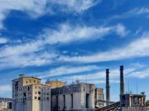 De verlaten fabriek Royalty-vrije Stock Foto's