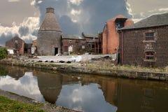De verlaten Fabriek van het Aardewerk Stock Foto