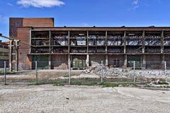 De verlaten fabrieksbouw Royalty-vrije Stock Foto