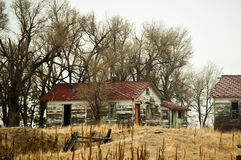De verlaten Gebouwen van het Landbouwbedrijf Royalty-vrije Stock Afbeelding