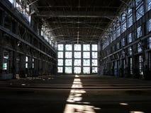 De verlaten Industriële Bouw Royalty-vrije Stock Afbeeldingen