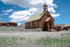 De verlaten mijnstad van Lichaam, Californië stock foto
