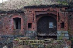 De verlaten oude Duitse bouw Stock Foto's