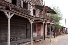 De verlaten Oude Westelijke Stad de V.S. van Arizona royalty-vrije stock afbeelding