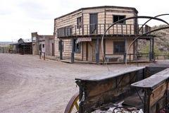 De verlaten Oude Westelijke Stad de V.S. van Arizona stock fotografie