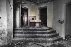De verlaten school Stock Afbeeldingen