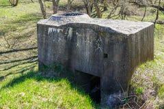 De verlaten sovjetwereldoorlog ii van het legervestingwerk dichtbij Liepaja, Letland royalty-vrije stock foto