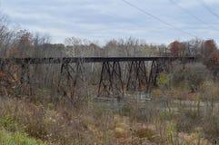 De verlaten sporen van de Spoorweg Stock Foto's