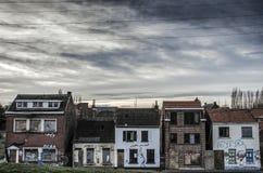 De verlaten stad in België stock afbeeldingen