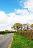 De verlaten steeg van het land, West-Sussex, Engeland, het UK stock afbeelding