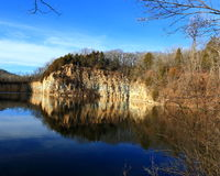 De verlaten Steengroeve van Missouri Stock Fotografie