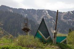De verlaten Toevlucht van de Ski Stock Foto's