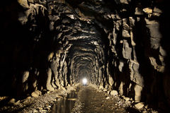 De verlaten Tunnel van de Sleep Royalty-vrije Stock Foto