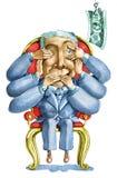 De verleiding van corruptie Stock Afbeelding