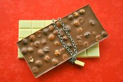 De verleiding van de chocolade Stock Afbeeldingen