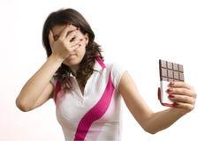 De verleiding van de chocolade royalty-vrije stock fotografie