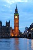 De verlichte Big Ben Stock Afbeeldingen
