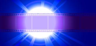 De verlichte schijnwerper van de fotofilm close-up Stock Afbeelding