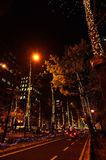 De verlichte stad van Osaka, Midousuji-weg, Japan Royalty-vrije Stock Afbeeldingen