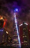 De verlichte Toren van Shanghai Stock Fotografie