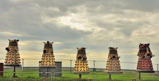 De verlichting Daleks van Blackpool Stock Afbeeldingen