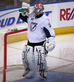 De Verlichting Goalie van de Baai van NHL Tamper Royalty-vrije Stock Afbeeldingen