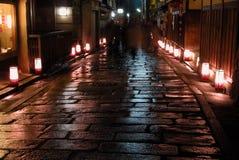 De verlichting van de nacht stock foto