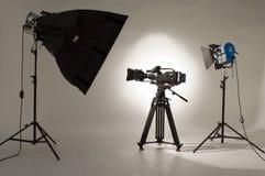 De Verlichting van de studio. stock foto