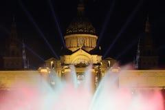 De verlichting van het Mnacpaleis voor 2014 van het nieuwe jaar Royalty-vrije Stock Fotografie