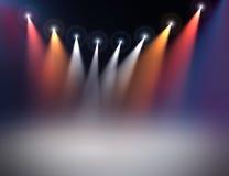 De verlichting van het stadium Stock Fotografie
