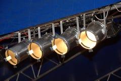 De Verlichting van het stadium Stock Afbeelding