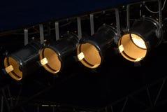 De Verlichting van het stadium Stock Foto's