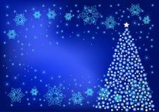 De verlichting van Kerstmis Stock Foto