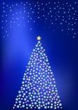 De verlichting van Kerstmis Stock Afbeeldingen