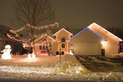 De Verlichting van Kerstmis royalty-vrije stock afbeelding