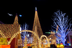 De verlichting van Kerstmis stock fotografie