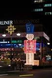 De verlichting van Kerstmis Stock Foto's
