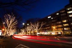 De verlichting van Kerstmis van Harajuku in Tokyo Stock Afbeelding