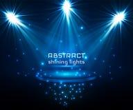 De verlichting van de stadiumvlek Magisch licht Blauwe vectorachtergrond royalty-vrije illustratie