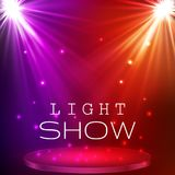 De verlichting van de stadiumvlek Magisch licht Het kan voor prestaties van het ontwerpwerk noodzakelijk zijn royalty-vrije illustratie