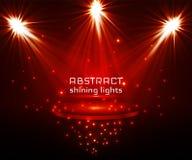 De verlichting van de stadiumvlek Magisch licht Rode vectorachtergrond royalty-vrije illustratie