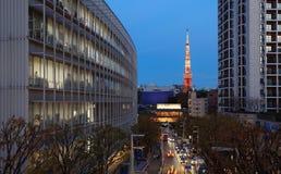 De Verlichting van Tokyo stock foto