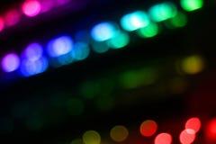De verlichting voert samenvatting van de Bewegings de multikleur kleurrijk op zwarte achtergrond voor decoratie grafisch ontwerp  royalty-vrije stock foto's