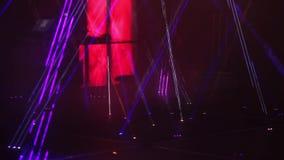 De verlichtingsgevolgen van het laserstadium stock footage