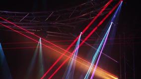 De verlichtingsgevolgen van het laserstadium stock video